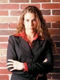 企业严重的妇女 免版税图库摄影