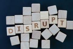 企业中断,演变或比赛更换者概念,蔓延古芝 免版税库存图片