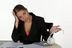 企业为难的妇女年轻人 免版税库存照片
