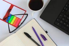 企业书桌和一杯咖啡 库存图片