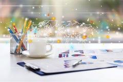 企业书桌 免版税库存照片