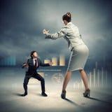 企业争议 免版税图库摄影