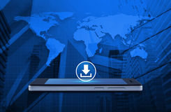 企业互联网概念, N装备的这个图象的元素 免版税库存图片