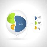 企业五颜六色的图以流动的形式 库存例证