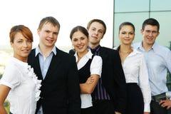 企业人员六个小组年轻人 库存照片
