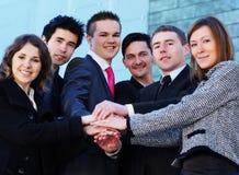 企业人员成功的小组年轻人 库存图片