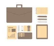 企业人的概念性平的例证 免版税库存图片
