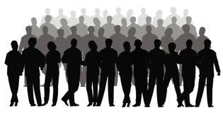 企业人群向量 库存照片