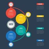 企业介绍或信息图表与4个选择 传染媒介inf 免版税库存照片