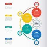 企业介绍或信息图表与4个选择 网templa 免版税库存照片