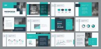 企业介绍模板设计和页面设计为小册子、年终报告和公司概况设计 库存例证