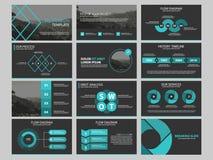 企业介绍infographic元素模板集合,年终报告公司水平的小册子设计 库存例证