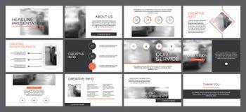 企业从infographic元素的介绍模板 免版税图库摄影
