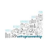 企业企业精神战略剪影概念 皇族释放例证