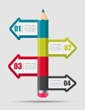 企业传染媒介的Infographic模板 库存照片