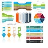 企业传染媒介例证的Infographic模板 EPS10 库存照片