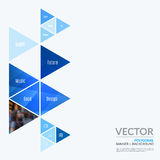 企业传染媒介图表布局的设计元素 现代摘要 免版税库存图片