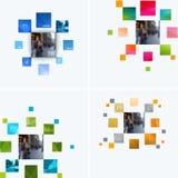 企业传染媒介图表布局的设计元素 现代 库存图片