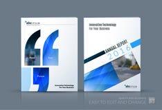 企业传染媒介 小册子模板布局,包括现代设计a 免版税图库摄影
