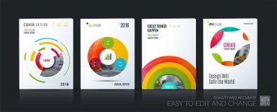 企业传染媒介 小册子模板布局,包括软的设计安 免版税图库摄影