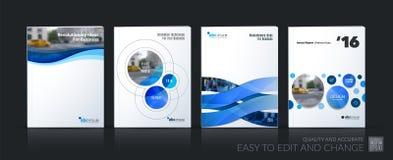 企业传染媒介 小册子模板布局,包括软的设计安 库存例证