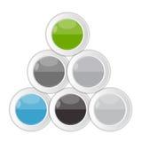企业传染媒介的Infographic模板 免版税库存图片