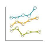 企业传染媒介的Infographic模板 库存图片