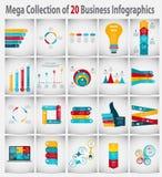 企业传染媒介的Infographic模板 皇族释放例证