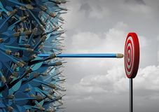 企业伸手可及的距离成功 库存例证