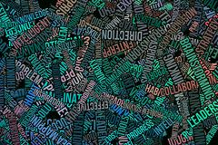 企业例证背景摘要,词覆盖纹理 正面、装饰、字母表&设计 免版税图库摄影