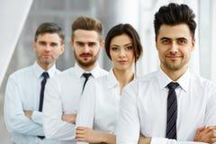 企业例证JPG人向量 成功的商务伙伴 企业咖啡夫人人扩音机小组 免版税库存图片