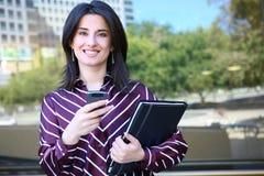 企业俏丽的妇女 免版税库存照片