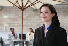 企业俏丽的妇女 免版税库存图片