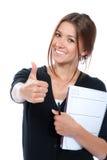 企业俏丽的赞许妇女 免版税库存图片