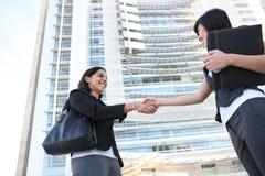 企业信号交换妇女 免版税库存图片