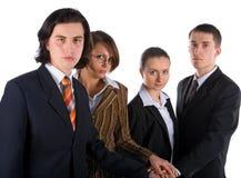 企业信号交换小组年轻人 库存照片