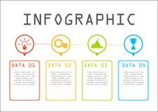 企业信息图表概念,时线,逐步 免版税库存图片