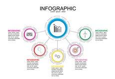 企业信息图表模板传染媒介例证图表 免版税库存图片
