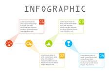企业信息图表,时线工艺卡片,逐步 库存图片