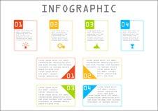 企业信息图表,长方形图,逐步,对成功的方式 免版税库存照片