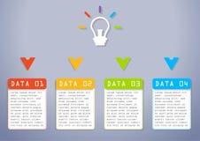 企业信息图表,长方形图,逐步,对成功的方式 库存图片