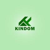 企业信件K的商标传染媒介 库存图片