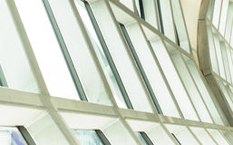 企业修造的内部,在大厦屋顶, structur的旭日形首饰 免版税图库摄影