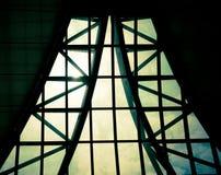 企业修造的内部,在大厦屋顶, structur的旭日形首饰 库存照片