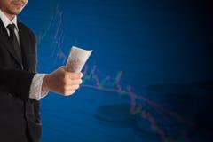 企业倒闭在股市上 diversificati的概念 免版税库存照片