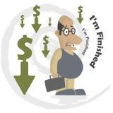 企业倒闭 免版税库存图片