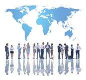 企业全球性队发展 库存照片