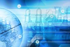 企业全球方法技术 库存照片