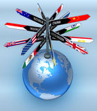 企业全球旅游业 库存图片