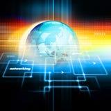 企业全球网络 库存例证